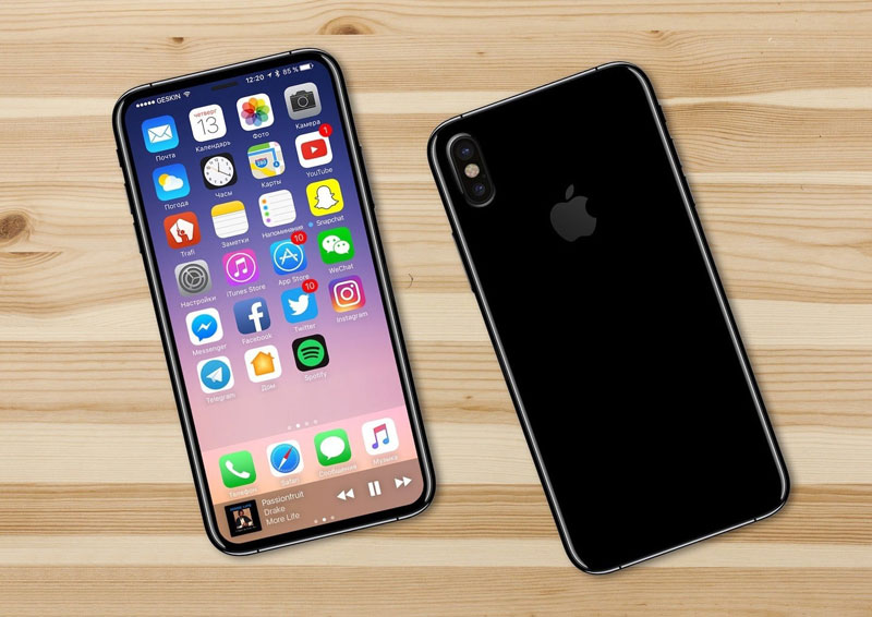 Дизайн Apple iPhone 8 показали на видео‍
